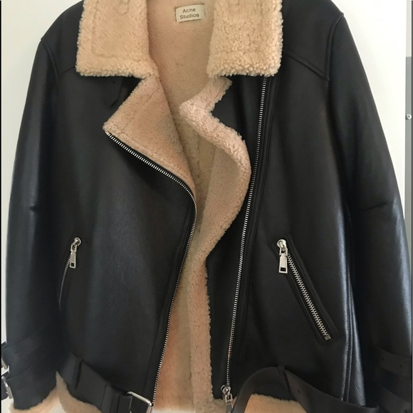 ac8e4bda4 Acne Studios Velocite leather & shearling jacket